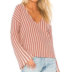 Amuse Society After Sundown Sweater In Picante